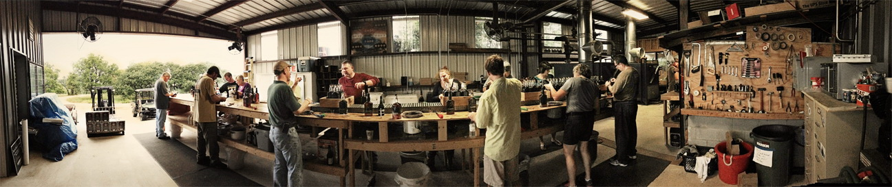 Panoramic of bottling